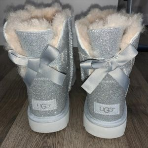 New UGG Bailey Bow Sparkle Boots